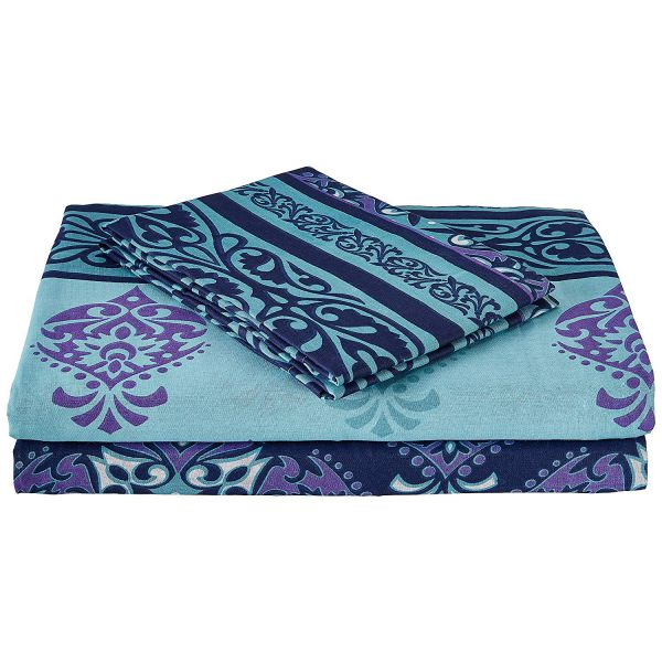 Double Bedsheet - Casa Basics - Blue and Green