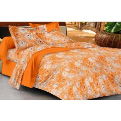 Double Bedsheet - Casa Basics -  Orange & White