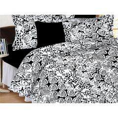 Double Bedsheet - Casa Basics - Black and White