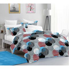 Aurora Pigment King Size Bedsheet with 2 Pillow Cover