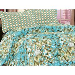 Double Bedsheet Eternal Tangle Art - Triangle Sky Blue