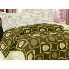 Double Bedsheet Eternal Tangle Art - Spatial Green
