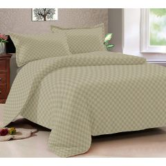 Double Bedsheet Solitaire Square Art - Desert Green