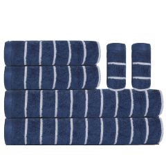 Ecstatic Towel Set - 6 Pcs-Midnight Blue