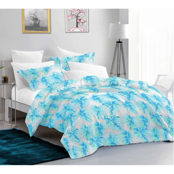 Ember Queen Size Bedsheet with 2 Pillow Covers