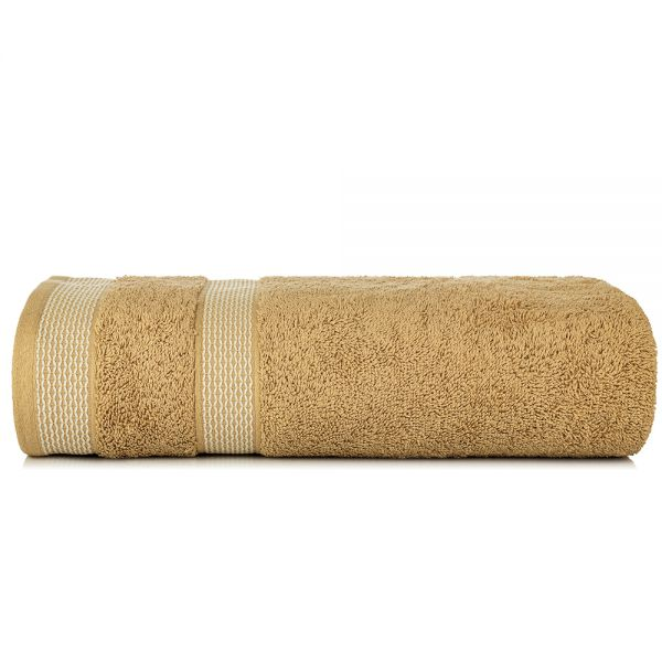 Solitaire 550 GSM Large Bath Towel-Beige