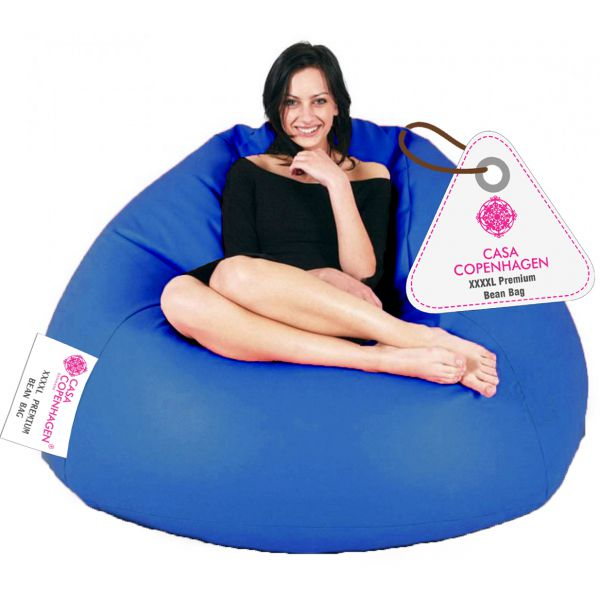 Casa Copenhagen Premium Bean Bag with Beans-Royal Blue-XXXXL