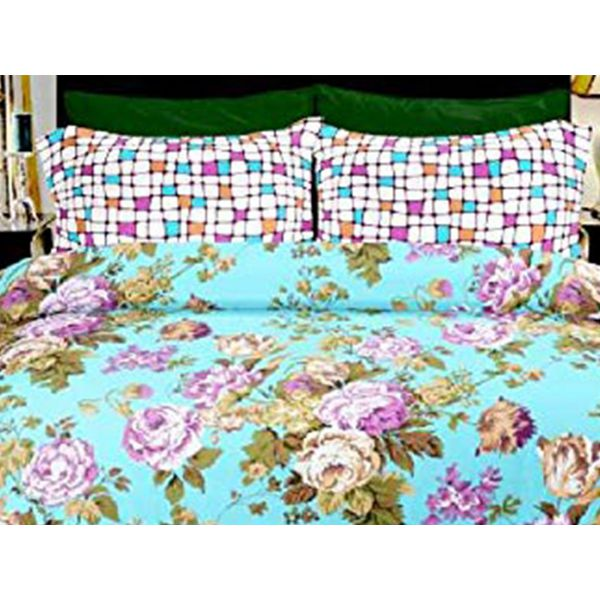 Double Bedsheet Eternal Tangle Art - Gardenia Sky Blue