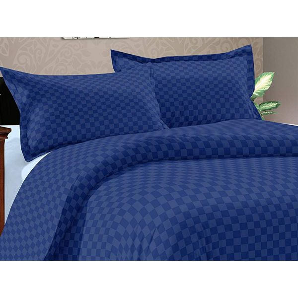 Double Bedsheet Solitaire Square Art - Midnight Blue