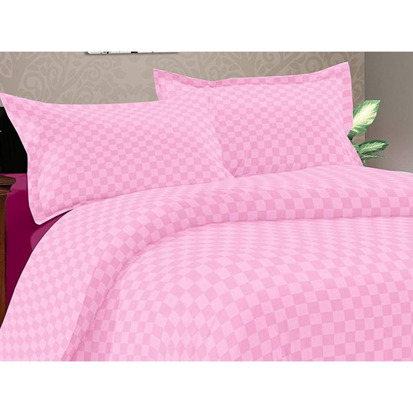 Double Bedsheet Solitaire Square Art - Rose Pink