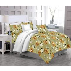 Casa Copenhagen Eternal Single Size Bedsheet with 1 Pillow Cover - Parakeet Green