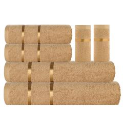 Eternal Towel Set - 6 Pcs-Beige