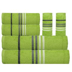 Exotic Towel Set - 6 Pcs-Lime Green