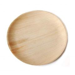 "Premium Palm Leaf Disposable Eco Friendly Party Essential Round Dinner Plate 10.25""- Pack of 25 Pcs"