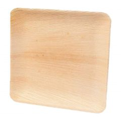 "Premium Organic Palm Leaf Disposable Eco Friendly Party Essential Square Plate 8"" - Pack of 25 Pcs"