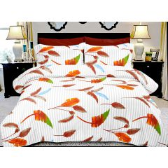 Double Bedsheet Ecstatic Magical Art - Leaves Brown