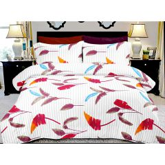 Double Bedsheet Ecstatic Magical Art - Leaves Red