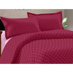 Double Bedsheet Solitaire Square Art - Burgendy