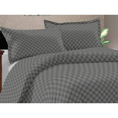Double Bedsheet Solitaire Square Art - Glacier Grey