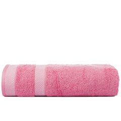 Solitaire 550 GSM Large Bath Towel-Flamingo Pink