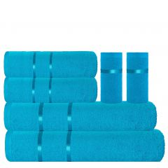 Eternal Towel Set - 6 Pcs-Hawaiian  Ocean
