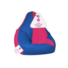 Casa Copenhagen Premium Bean Bag with Beans-Pink & Blue-XXXXL